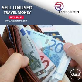Sell your unused Travel money in uk with rapido remit in uk