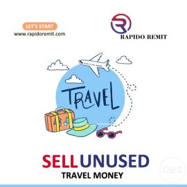 Sell your unused travel money in uk with rapidoremit