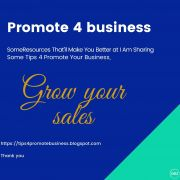 Tips 4 promote your business