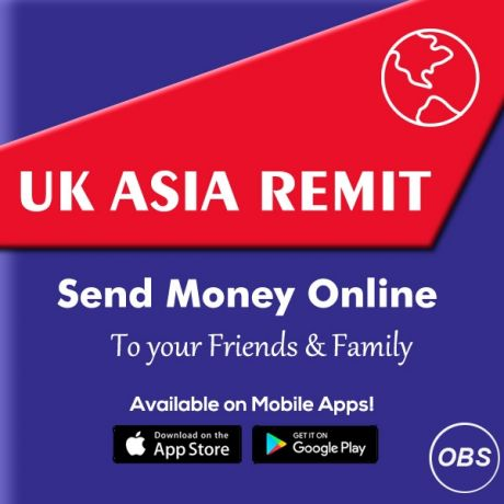 Trusted Services Send Money Online Worldwide in UK with UK Asia Remit