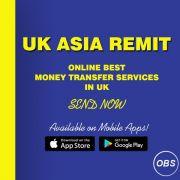 Worldwide Best Services Send Money Online in Uk with ukasia remit