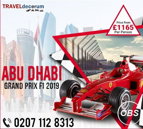 Book Abu Dhabi f1 holiday packages and Abu Dhabi formula 1 packages