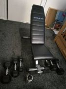 For Sale dumbbells set with weight bench in UK